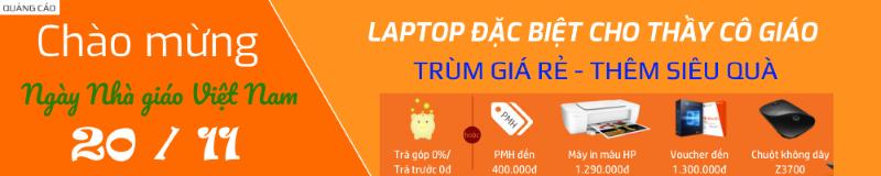 Laptop giá rẻ cho Giáo viên